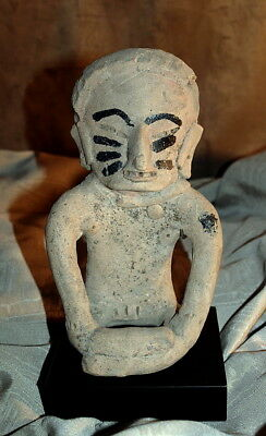 Pre-Columbian :: Ceramic Seated  Figure