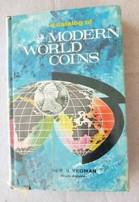 1965 Catalog of Modern World Coins R.S. Yeoman 6th Edition book HC / DJ