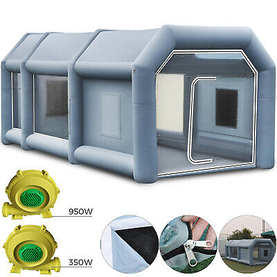 Inflatable Spray Booth Paint Tent Car Paint Windshield View Double-sided Zipper