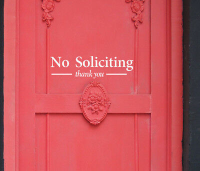No Soliciting Wall Brt Removable Home Vinyl Window Wall Stickers Decal Decor B