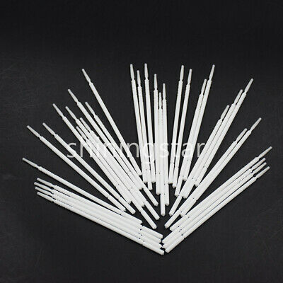 200x Disposable Dental Micro Brush Bendable Applicator Tips White Long Cylinder