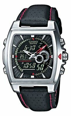 Watch Casio Casio Stainless Steel Edifice Square Black Dial Chronograph Strap Re