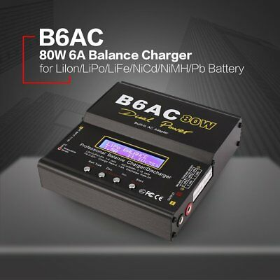 B6AC 80W AC/DC Lipo LiFe NiMh Battery Balance Charger Discharger for RC Model or