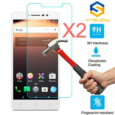 2Pcs Tempered Glass Screen Protector For Alcatel 3V /3C / 5X / 1X /A3 XL /U5 HD