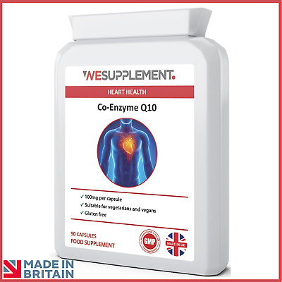 Co-Enzyme Q10 CoQ10 100mg 90 Capsules Heart Health, Antioxidant, Energy Booster