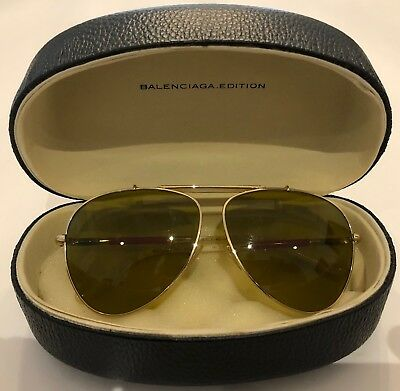 Balenciaga Yellow & Red Aviator - Gold Frame – Original Case