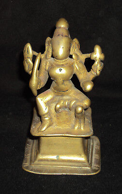 "Traditional Indian Ritual Bronze Goddess ""Durga"" Shakti Rare ##1"