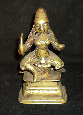 "Traditional Indian Ritual Bronze Goddess ""Durga"" Shakti Rare #7"