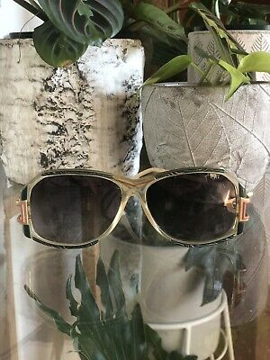 Vintage Cazal Sunglasses Frames (gold Frame With Blush And Green Features)