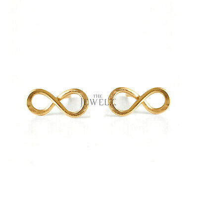 8c3993dc9 14K SOLID PLAIN Gold 8 mm Small Knot Earrings Handmade Fine Jewelry ...