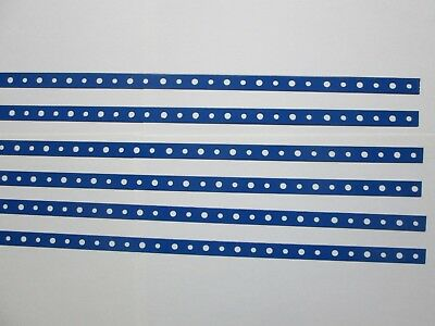 Blue Powder coated Steel Mini Straps six pieces two ft long each.