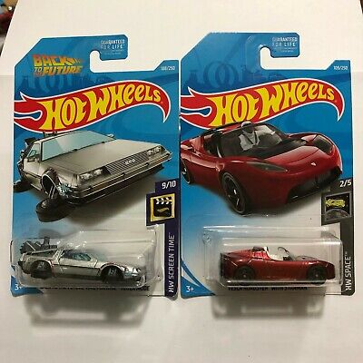 Hot Wheels Back to the Future Time Machine Hover Mode + TESLA STARMAN - $10.99