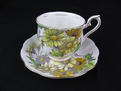 Vintage Royal Albert Tea Cup & Saucer Daisy Flower Of The Month #4