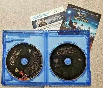 FANTASTIC BEASTS THE CRIMES OF GRINDELWALD Blu Ray + DVD + Digital INCLUDED