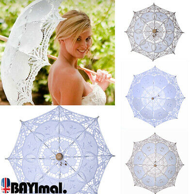Lace Parasol Umbrella Retro Embroidered Sun Umbrella Bridal Wedding Party Gifts