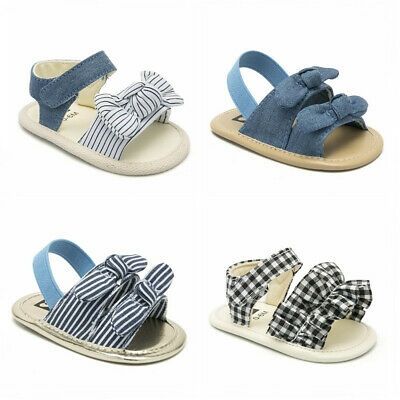 ebef415ed Infant Child Summer Sandals Newborn Baby Girl Bowknot Crib Shoes Size 3 6 9  12 M