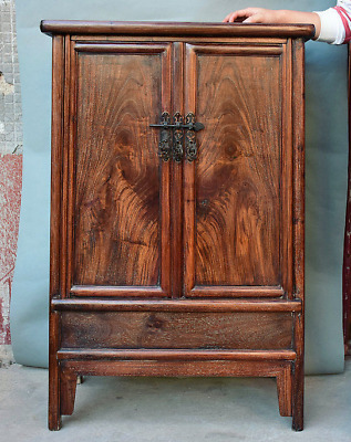 """39.6"""" Rare Old China Huanghuali Wood Dynasty Cupboard Cabinet Antique Furniture"""