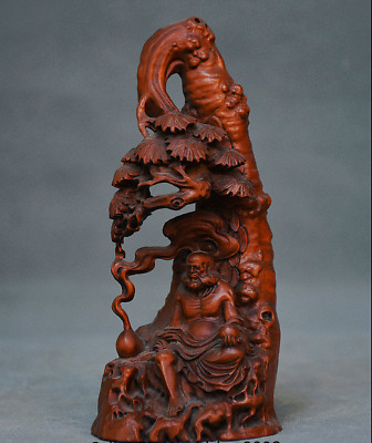 Asian Antiques Conscientious Rare Old China Dynasty Boxwood Wood Hand Carved Dragon Statue Storage Box Boxes
