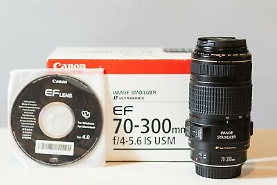 Canon EF 70-300mm F/4-5.6 IS USM Lens - Mint condition optics fully operational