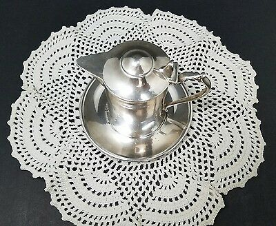 Vintage Wallace Silverplate Creamer on Plate Hinged Cover M616