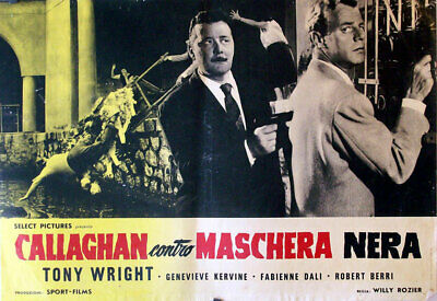 All Detectives & Spies /callaghan Remet Ça/tony Wright/1961/fotobusta/willy Rozi