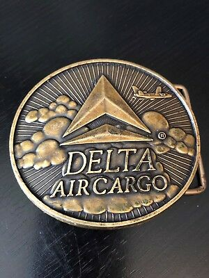 Delta Air Cargo Belt Buckle Plane in Sky Detailed and Dimensional USA