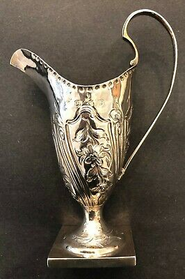 Antique British George III Silver Cream Jug London 1783 by Charles Hougham