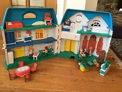 Retro dolls house with furniture