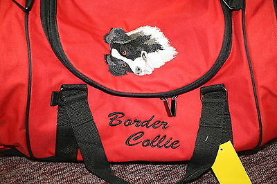 Border Collie Embroidered Duffel Bag
