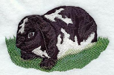 """Lop-Eared Rabbit, Bunny, Hare, Embroidered Patch 5.7""""x3.7"""""""