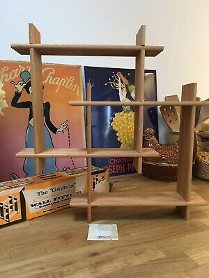 """Mid Century Vintage Contemporary Wooden wall Shelving Unit """"The Gaybox"""""""