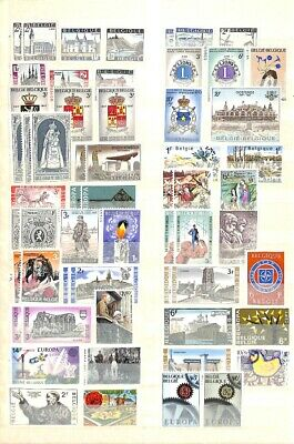 [OP9370] Benelux  lot of stamps on 12 pages - see photos on description