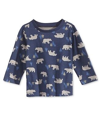 First Impressions Baby Girls Long-Sleeve Graphic-Print T-Shirt Pewter HTHR 18 Months
