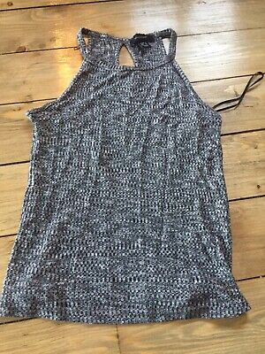 Grey Marl Strappy Fitted Vest Top - Primark - 8