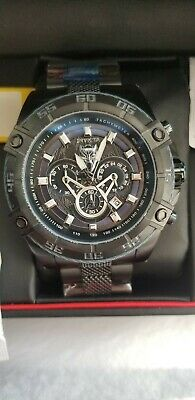 Invicta Marvel black Panther Speedway Viper Chronograph Stainless 52mm Watch New