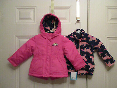 71b81f69c NEW ~ CARTERS 4-In-1 Unicorn Jacket Fleece Coat Interchange Toddler Girls 3T