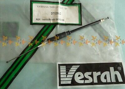 YAMAHA DT125LC DT125 THROTTLE CABLE 2 or B 86-87 Ref 34X 26312 00 New Old Stock