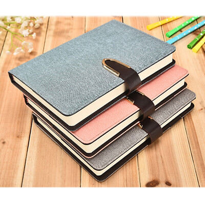 A5 Business Leather Notebook Cover Planner Schedule Diary Organizer Sketchbook
