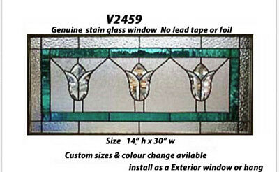 Stain glass Tulip  Bevel Cluster Window V2459  WOW