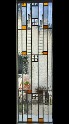 Bevel Cluster with jewels leaded glass window / Transom  WOW