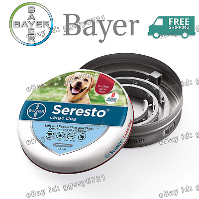 Bayer Seresto Flea and Tick Collar for Large Dog with 8 Month Lasting Protection