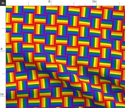 Woven Rainbow Pride Fabric Printed by Spoonflower BTY