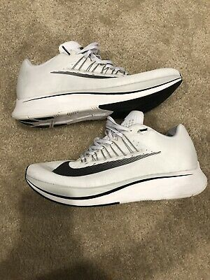 3f48b5477982 Nike Zoom Fly Sp Size 11.5 All White Tokyo Black Running Air Max Gray Lebron