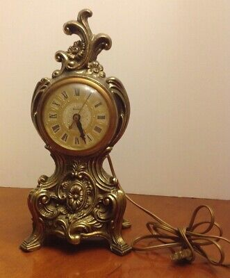 Vintage UNITED Electric Mantle Clock Model #82 KEEPS ACCURATE TIME! All Original