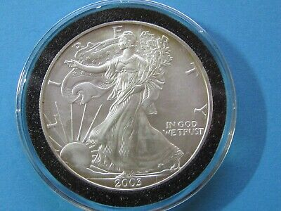 2003 $1 American Silver Eagle 1 oz Brilliant Uncirculated in Airtight