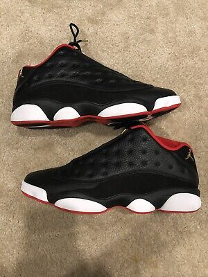 finest selection 0f04a bea2f Nike Air Jordan 13 Low Bred Size 11.5 XIII Black Metallic Gold University  Red