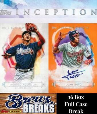 Toronto Blue Jays 2019 Topps Inception 16 Box Full Case Break #5