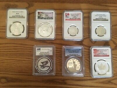 PCGS/NGC Graded Silver Coin Lot 7 Coins