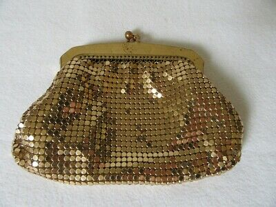 Vintage - Oroton  Gold Mesh Coin Purse  - 12cm Wide