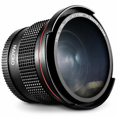 New 52mm 0.35x Fisheye Wide Angle Lens with Macro for Nikon Canon Sony Olympus